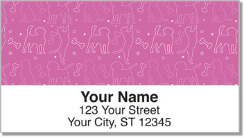 Dog Wallpaper Address Labels