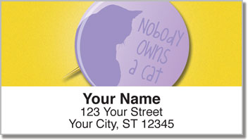 Cat Pride Address Labels