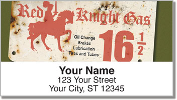 Vintage Gasoline Address Labels