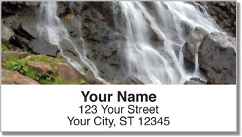 Artistic Waterfall Address Labels