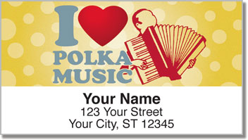 Polka Music Address Labels