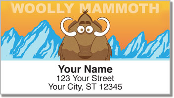 Cute Extinct Animal Address Labels