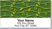 Green Vine Address Labels