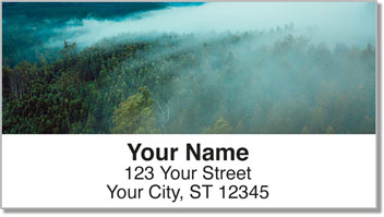 Foggy Day Address Labels