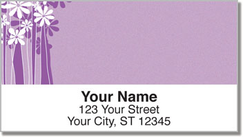 Daisy Silhouette Address Labels