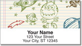 Doodle Pad Address Labels