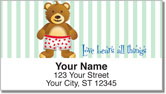 Cuddly Teddy Bear Address Labels