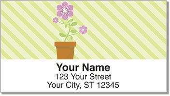 Potted Flower Address Labels