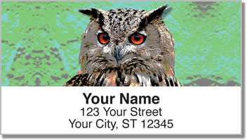 Eyes of an Owl Address Labels
