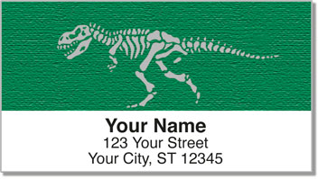 Dino Skeleton Address Labels