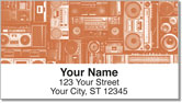 Vintage Music Address Labels