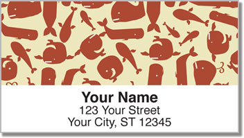Wacky Whale Address Labels