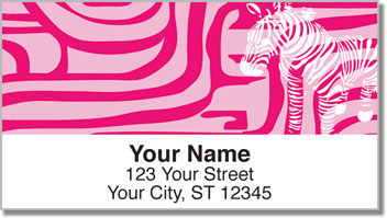 Neon Animal Print Address Labels