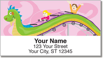 Amusement Park Ride Address Labels