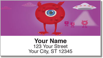 Martian Monster Address Labels