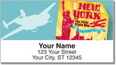 Vintage Travel Address Labels