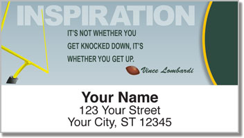 Football Quote Address Labels