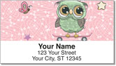 Cartoon Owl Address Labels