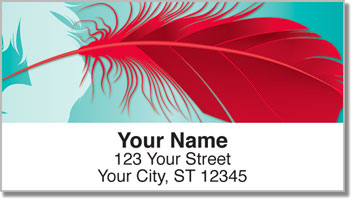 Fancy Feather Address Labels