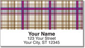 Plaid Pattern Address Labels