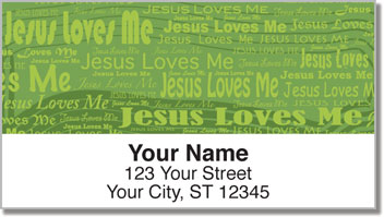 Jesus Loves Me Address Labels