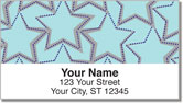 Star Pattern Address Labels