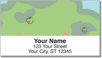 Apple Tree Art Address Labels