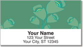 Green Bouquet Address Labels