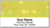 Chive Flower Address Labels