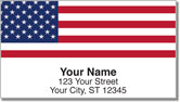 US Flag Address Labels