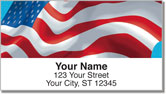 Waving US Flag Address Labels