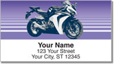 Sport Bike Address Labels