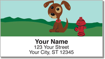 Perky Puppy Address Labels
