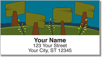 Folk Tree Address Labels