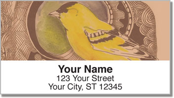 Bird Drawing Address Labels