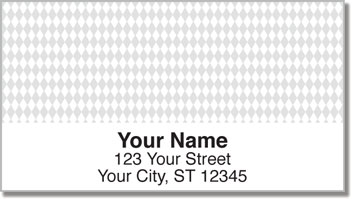 Diamond Pattern Address Labels