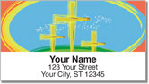 Christian Cross Address Labels