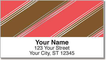 Candy Stripe Address Labels