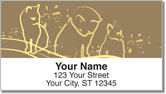 Cat Sketch Address Labels