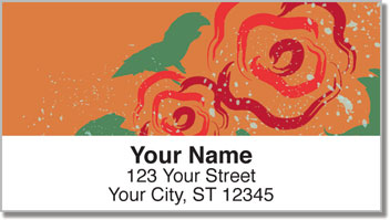 Double Blossom Address Labels