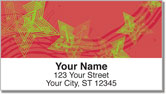 Retro Star Address Labels