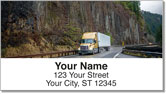 Semi Truck Address Labels