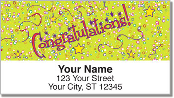 Congratulations Address Labels