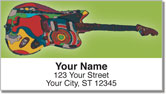 Psychedelic Guitar Address Labels