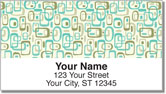 Retro Wallpaper Address Labels