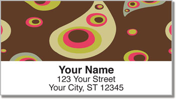 Retro Paisley Address Labels