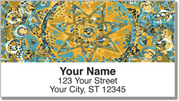 Ornamental Star Address Labels