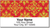 Floral Fabric Address Labels