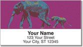 Wild Elephant Address Labels
