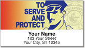 Police Force Address Labels